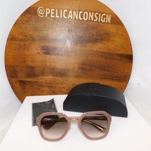Prada Mauve geometric sunglasses